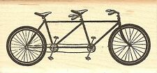 Bicycle Built For Two, Wood Mounted Rubber Stamp JUDIKINS - NEW, 3656F