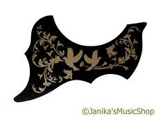 Acoustic guitar pick guard scratch plate gold leaves and birds pickguard
