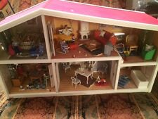Home Sweet Lundby Doll House Display 6 Rooms Furnished + 6 Figures w/ Box Sweden