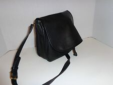VINTAGE RARE COACH 9734 BLACK LEATHER FLAP  BONNIE CASHIN ERA DRAWSTRING  PURSE