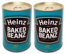 2 x HEINZ sicurezza safecan BAKED BEANS FAKE può Cash Money Box nascondendo trendy