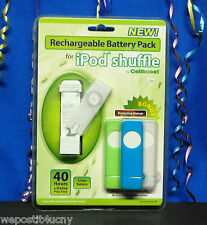 Ipod Shuffle Rechargeable Battery Pack With Three Shuffle Sleeves By Cellboost