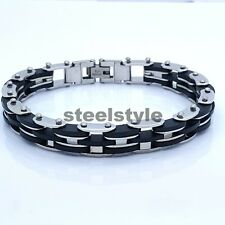 BIKE CHAIN STAINLESS STEEL 316L MEN'S JEWELLERY BRACELET R5