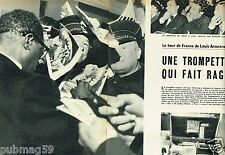 Coupure de Presse Clipping 1955 (4 pages) Tour de France de Louis Armstrong