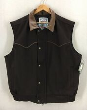 Men's Schaefer Wool & Leather Navajo Rodeo Vest Jacket USA Sz XL With Tag