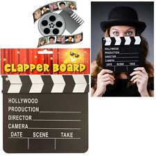 Film Director's Clapper Board HOLLYWOOD Movie Black Fancy Dress Party Hand-Pop