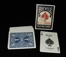 Minty VINTAGE BICYCLE PINOCHLE Playing Cards w/ TAX STAMP Blue 48