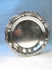 CHRISTOFLE ANCIEN GRAND PLAT CREU MONOGRAMME EN METAL ARGENTE STYLE LOUIS XV