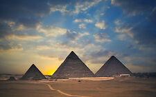 Incorniciato stampa-PIRAMIDI dall' EGIZIANO GIZA ALTOPIANO (PICTURE POSTER Egitto)
