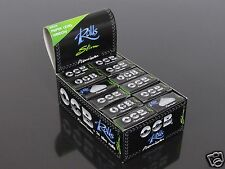 1 Box OCB PREMIUM SLIM ROLLS BLACK ULTRA THIN SMOKING ROLLING PAPERS #798