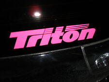 TRITON  BOATS  Sticker DECAL YOU GET 2  PINK  Bass Boat