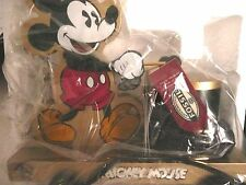 FOSSIL NEW MICKEY MOUSE WATCH GOLD LIMITED  EDITION WATCH W/WOOD TOY DRUM