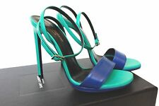 Saint Laurent Paris Summer 17 High Heel Blue Green 110 Sandals 39 uk 6