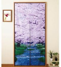 Noren - Rideau Japonais Porte / Japanese Door Curtain - Mizube no Sakura