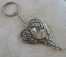 Memorial Angel Wing, Swarovski Crystal, Mum Bag Charm/Keyring/Keychain