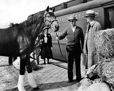 Champion Racehorse SEABISCUIT & Tom Smith Glossy 8x10 Photo Print Horse Poster