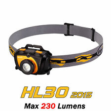 Fenix HL30 2015 Cree XP-G2 R5+Red LED 230 Lumens AA Headlight Headlamp - Orange