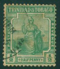 [JSC]1938 Queen Victoria  Trinidad & Tobago postage revenue 1/2p war stamp