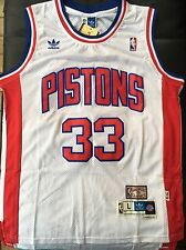 Grant Hill White Detroit Pistons Jersey Size Large