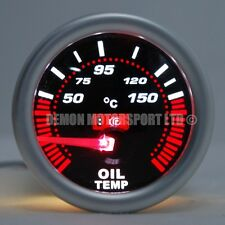 "52mm (2 "") LED Affumicato olio temp Temprature Gauge 50 - 150 gradi C (UNIVERSALE)"