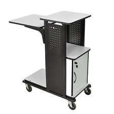 Luxor / H Wilson Mobile Presentation Cart Light Gray 18Wx30Dx54H WPS4HDC NEW