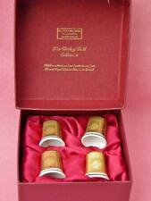 EXTREMELY RARE BILSTON & BATTERSEA CLOTH OF GOLD COLLECTION THIMBLES MINT IN BOX