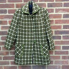 Vintage Welsh Wool Tweed Tapestry Jacket Coat Rare Colour M Very Marni Chic