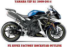 FX EFFEX FACTORY DEKOR GRAPHIC KIT YAMAHA YZF R1 & R6 ROCKSTAR OUTLINE B