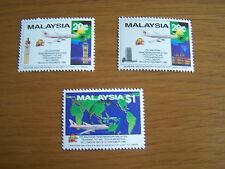 MALAYSIA COMPLETE SET OF 3 VALUES,U/MINT.CAT .V. £10.EXCELLENT.