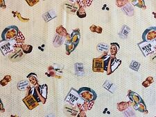 MD224 Kellogg's Cereal Retro Vintage Nuclear House Wife Quilting Cotton Fabric