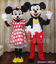 【SALE】 NEW MICKEY and MINNIE MOUSE MASCOT COSTUME ADULT SIZE HALLOWEEN FAST SHIP