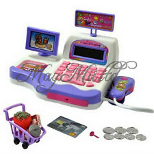 Kids Toy Pretend Play Supermarket Cash Register Scanner Checkout Counter New Z ぱ