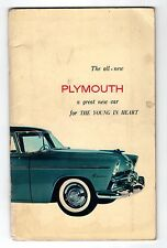 Plymouth 1955 Owners Manual Original Excelente w/owner servicio certificado