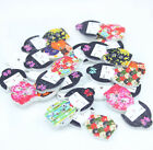 20PCs 2 Holes Mixed Japanese Doll Wooden Buttons Fit Sewing Scrapbook 3x1.5cm Q9