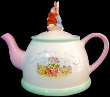 Peter Rabbit Tea Pot & Lid Beatrix Potter Telaflora 2002