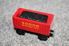 Thomas the Train & Friends Wooden Railway Sodor Mining Coal Car w/Coal Wood Rare