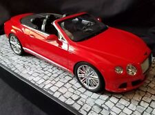 Bentley Continental Gt Speed Convertible 2013 Red Minichamps 1:18 #9 OF 999