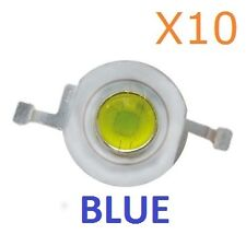 1W BLUE LED Diode Lamp Beads 1 Watt High power Super Bright (10 Pieces)
