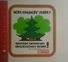 Aufkleber/Sticker: Bild Am Sonntag rettet unseren deutschen Wald (281016121)