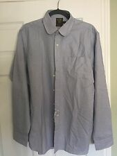rugby by Ralph Lauren Men's French Collar Small Checked Shirt Size 16