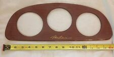 Pontoon, Fishing, Marine Boat- Milan Walnut 3 Gauge Instrument Panel Dash Blank