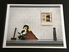 BRICKSY - LEGO Banksy - Maid In London - RARE SIGNED ART PRINT made