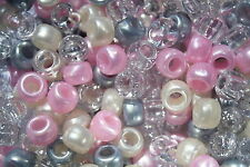 100 x Prom Pony Bead Mix 9mm x 6mm Hole 4mm USA Made - Ideal For Dummy Clips