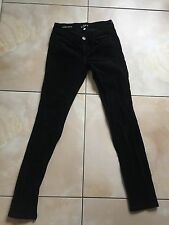Ann Taylor ladies black corduroy low rise  skinny fit jeans trousers size 24 /00