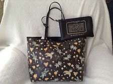 NWT. Coach Baseman X Secret Order Signature Reversible City Zip Tote  Bag F57917