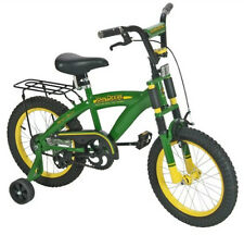 "New Tomy John Deere 16"" Boy's Bicycle with Adjustable Training Wheels"