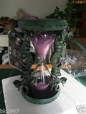 NEW-DISNEY PARKS HAUNTED MANSION HOURGLASS GARGOYLES SPIRITS W/PURPLE SAND & TAG