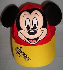 Disneyland Mickey Mouse 3-D Ears Baseball Cap Hat Toddler Red Yellow
