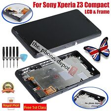 For Sony Xperia Z3 Compact mini D5803 LCD Touch Screen Digitizer Display & Frame