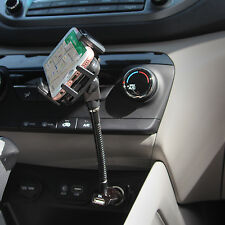 Car Cell Phone Goose Neck Cigarette Lighter Plug Stand Holder for iPhone 6 5 Kit